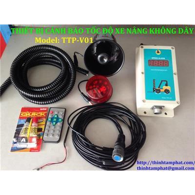 Bộ thiết bị cảnh báo tốc độ xe nâng không dây model TTP-V01