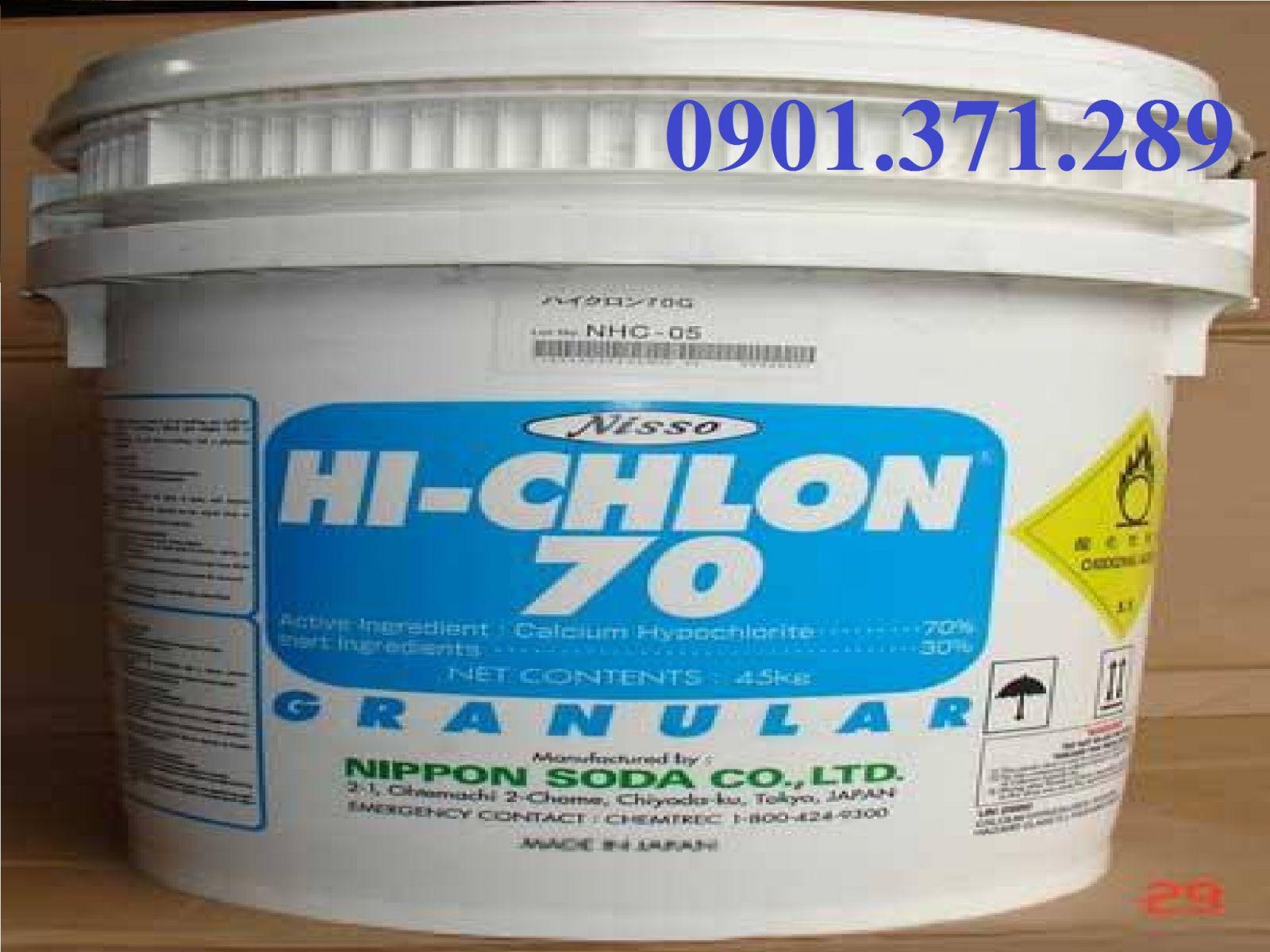 Chlorine Nhật bản 70 %  khử trùng xử lý nước hồ bơi, bể bơi