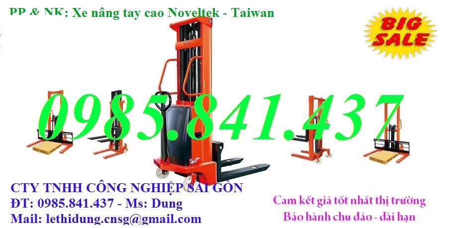 Xe nâng tay cao Noveltek - Taiwan 1 tấn, 1m6