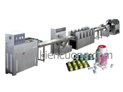 Dây chuyền sản xuất kẹo caosu.