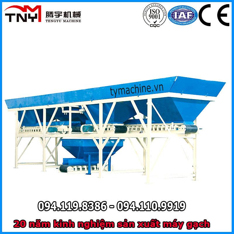 Cân định lượng PLD tự động 1200 TNY sản xuất gạch block