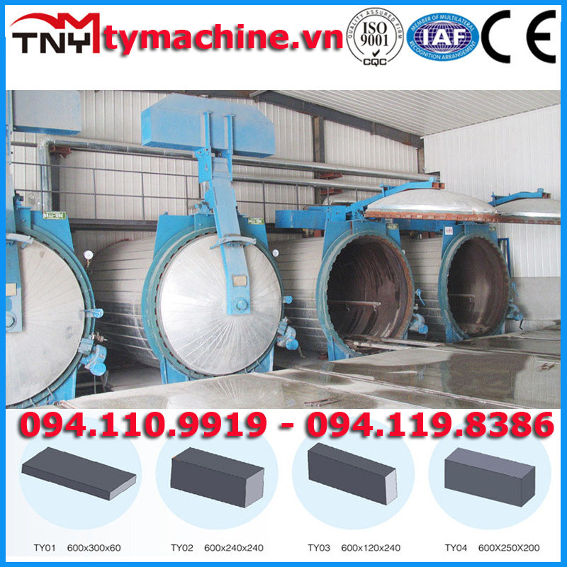 Cung cấp dây chuyền sản xuất gạch bê tông khí chưng áp AAC