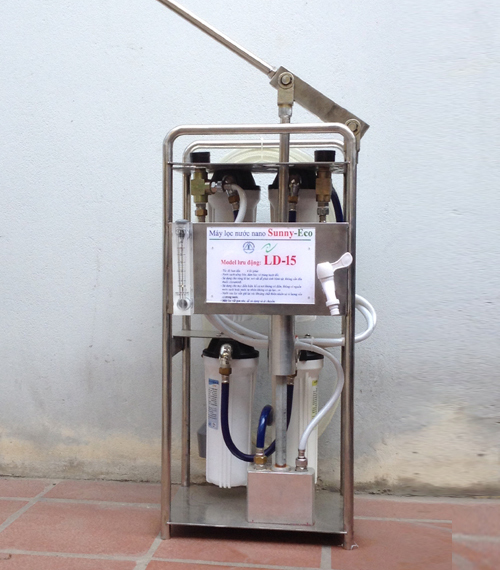 Máy lọc nước nano gia đình LD 15 - Nước sạch cho vùng lũ lụt