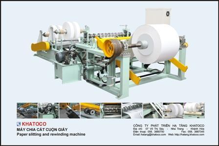 Máy chia cắt cuộn giấy