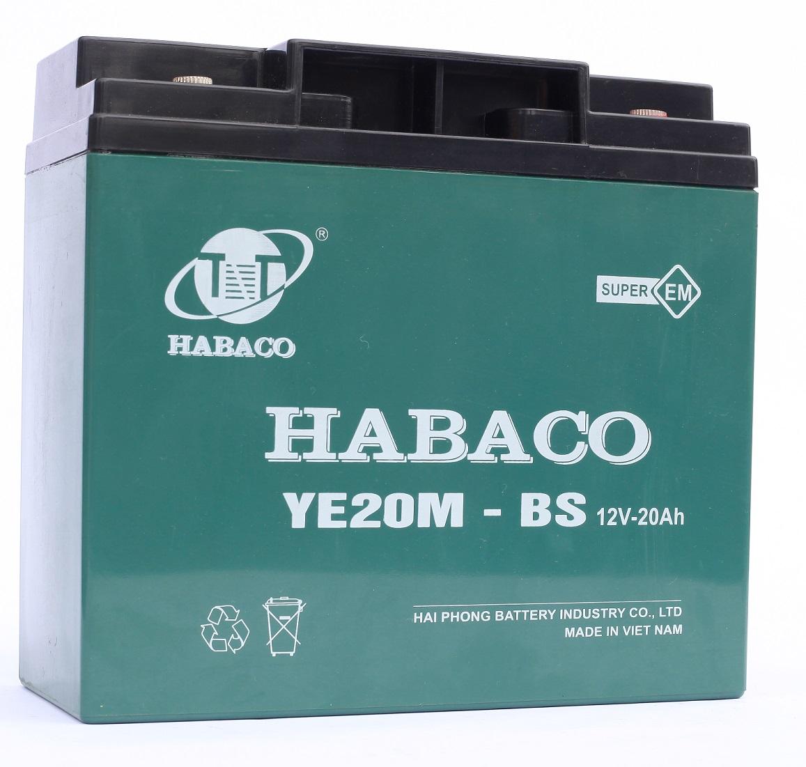 Ắc quy xe máy điện Habaco (12V - 20Ah/ 10Hr)