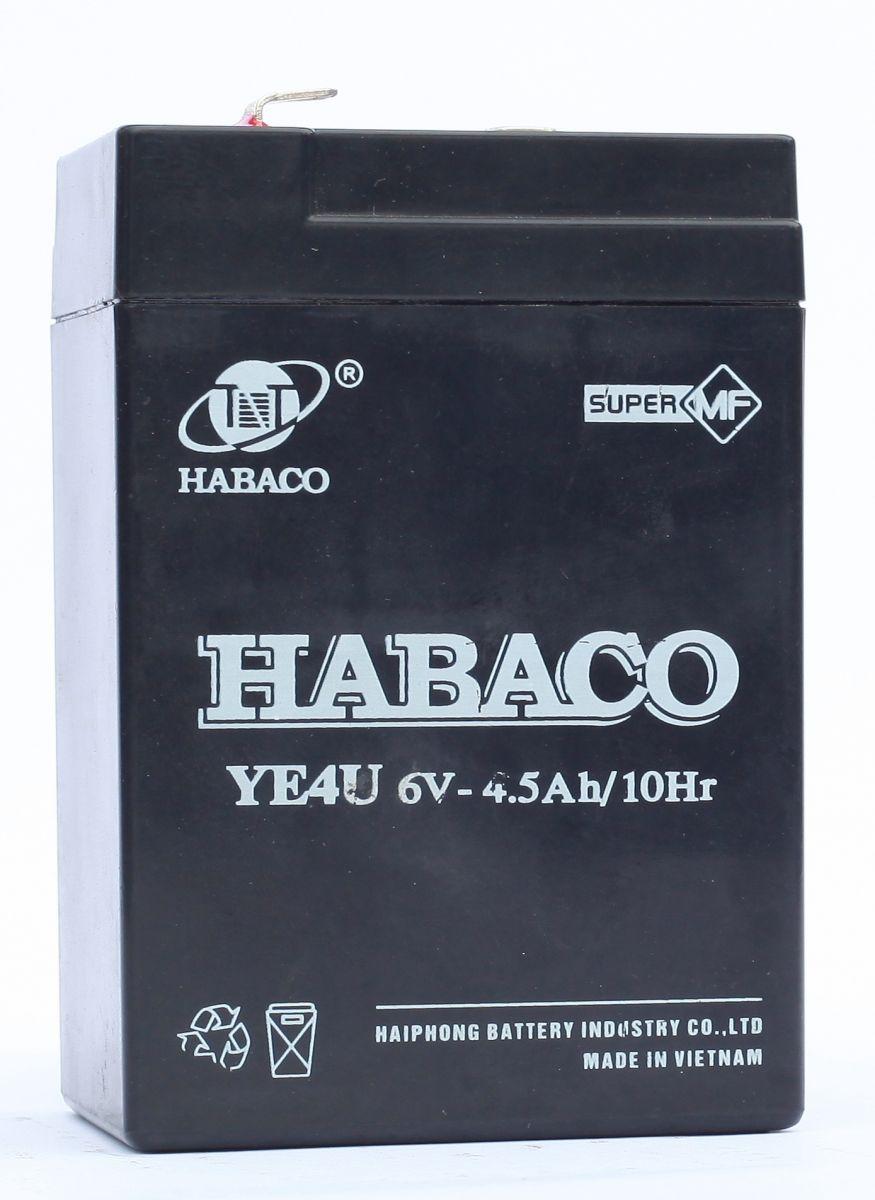 Bình ắc quy nguồn điện Habaco 6V- 4Ah