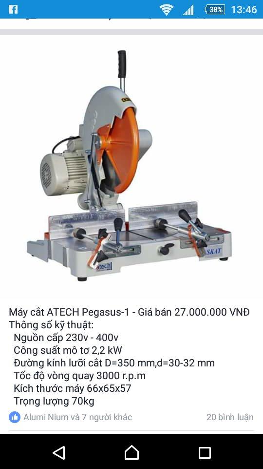 Máy cắt nhôm Atech Pegasus-1