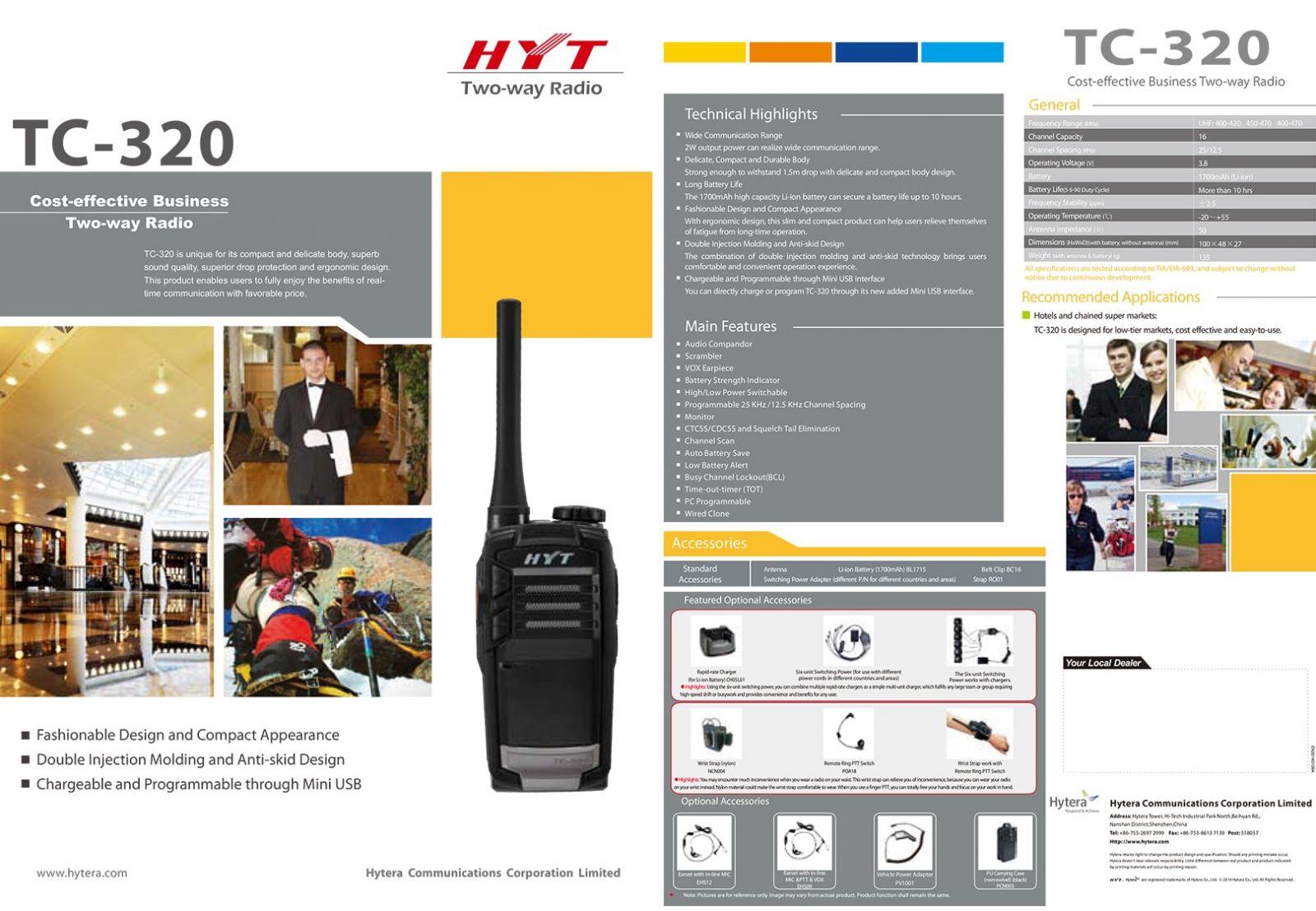 Máy bộ đàm cầm tay HYT TC-320