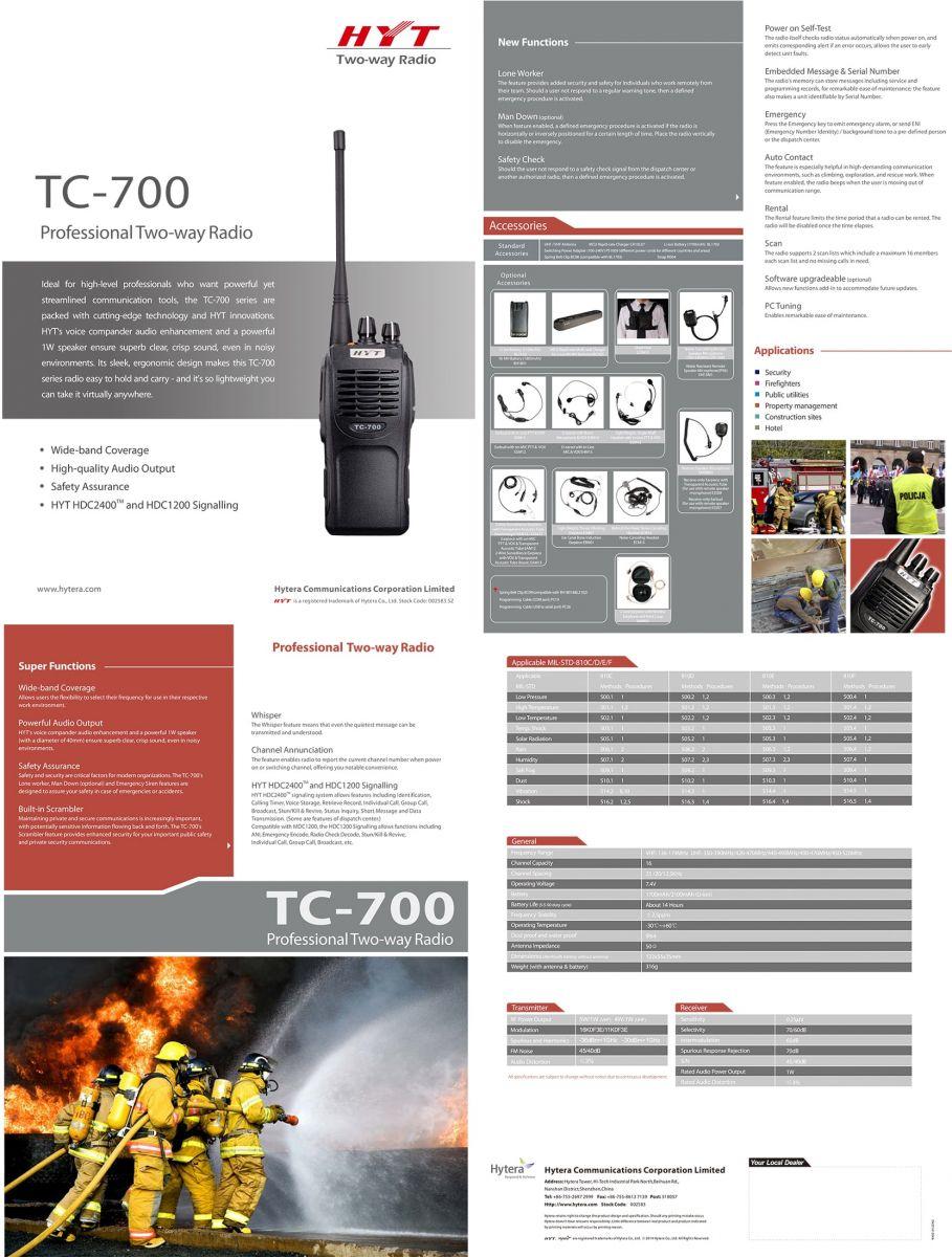 Máy bộ đàm cầm tay HYT TC-700