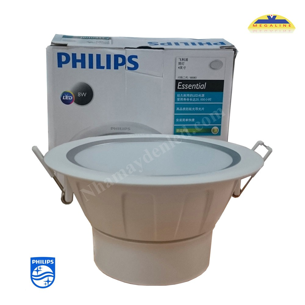 Đèn led âm trần Silver 80083 LED Philips