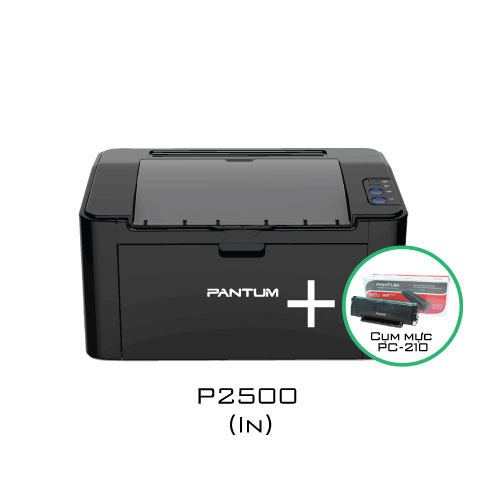 Combo máy in Pantum P2500 + PC-210