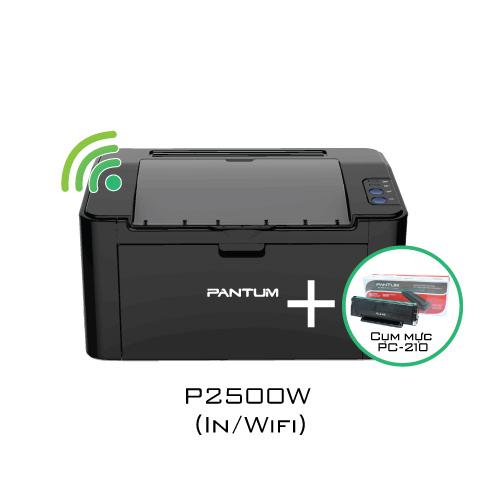 Combo máy in P2500W + mực in PC-210