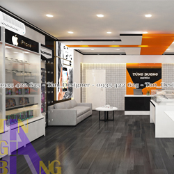 Thiết kế và thi công shop điện thoại Tùng Dương 3