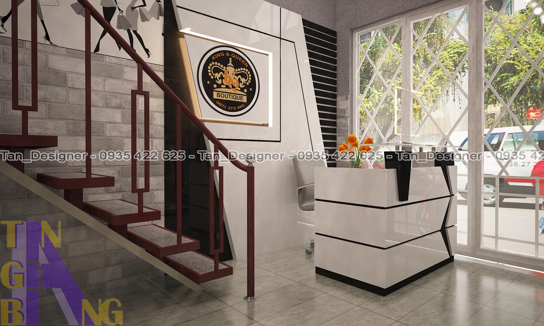 Thiết kế và thi công shop thời trang KING & QUEEN