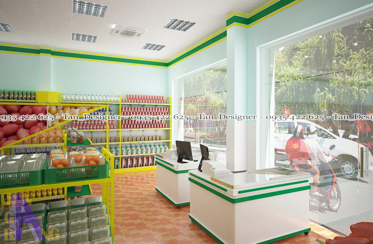 Thiết kế thi công cửa hàng tiện lợi