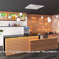 Dịch vụ thiết kế thi công trọn gói quán trà sữa Fancy - Bình Dương