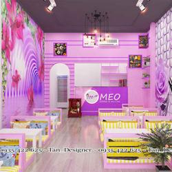 Dịch vụ tư vấn, thiết kế và thi công quán trà sữa Meo
