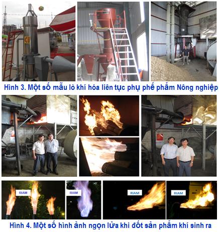 Hệ thống thiết bị khí hóa liên tục quy mô công nghiệp sử dụng nguyên liệu từ các phụ, phế phẩm nông nghiệp (vỏ trấu, lõi ngô)