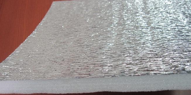 Tấm cách nhiệt PE 1 mặt OPP+1 mặt băng dính/POT