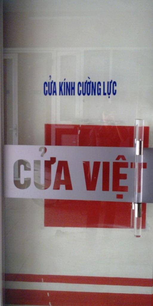Cửa kính cường lực Việt Pháp