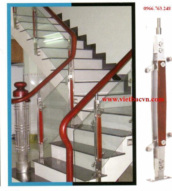 Cung cấp trụ cầu thang kính, trụ cầu thang inox, trụ inox 304 ốp gỗ, trụ xỏ song inox 304 giá tốt nhất.
