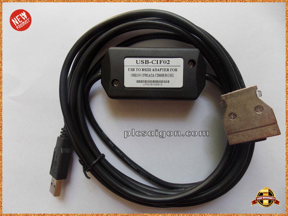 Cáp lập trình PLC Omron USB-CIF02