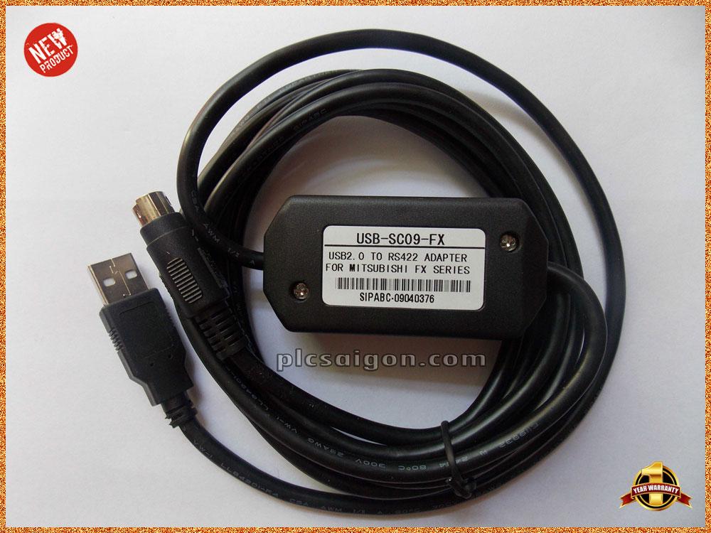 Cáp lập trình USB-SC09 cho PLC Mitsubishi FX Series