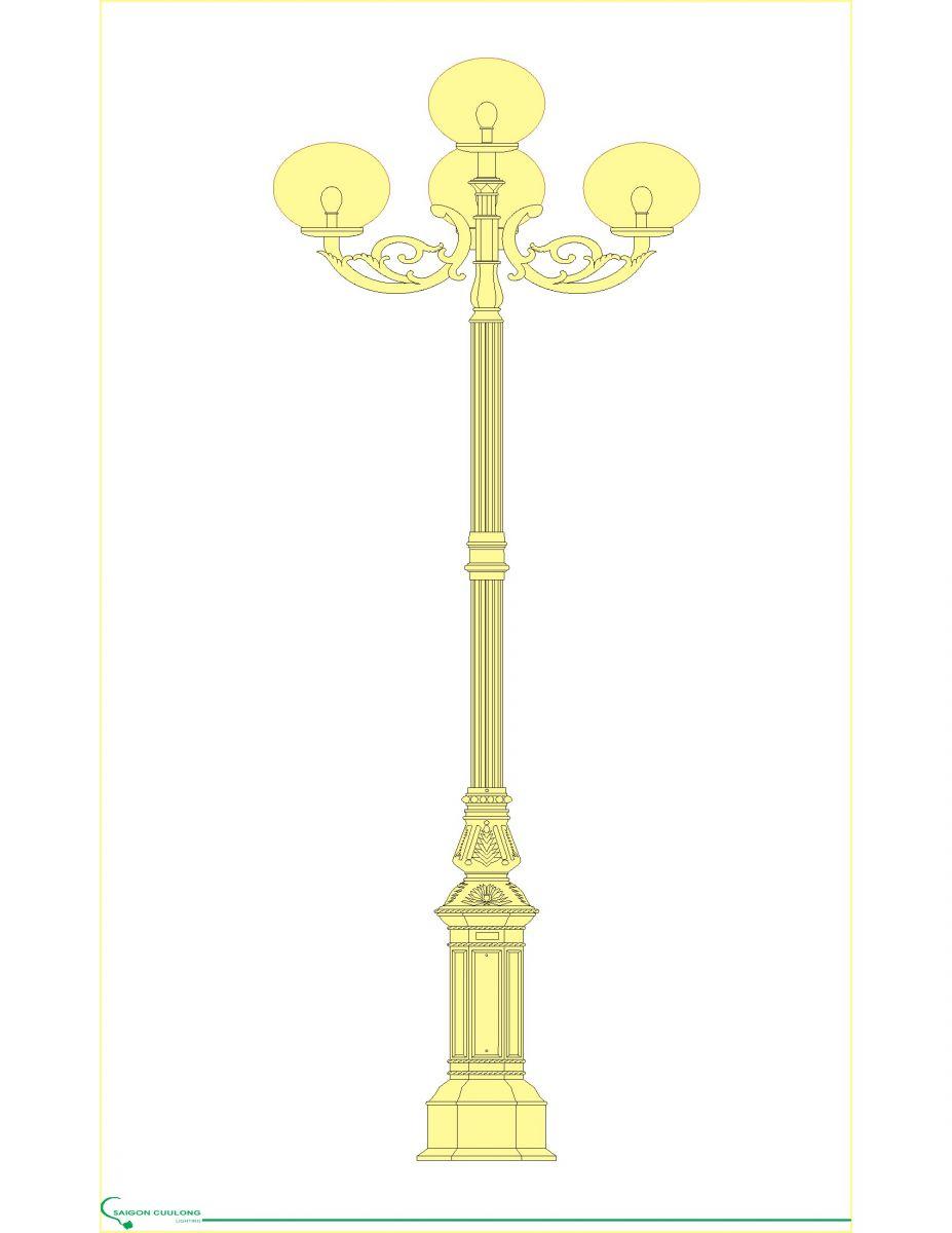 Trụ trang trí DC05B | Saigonculong lighting