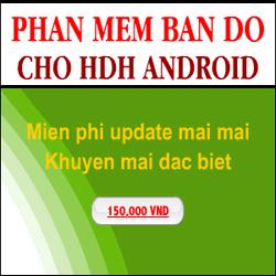 Phần mềm bản đồ dẫn đường cho HDH Android