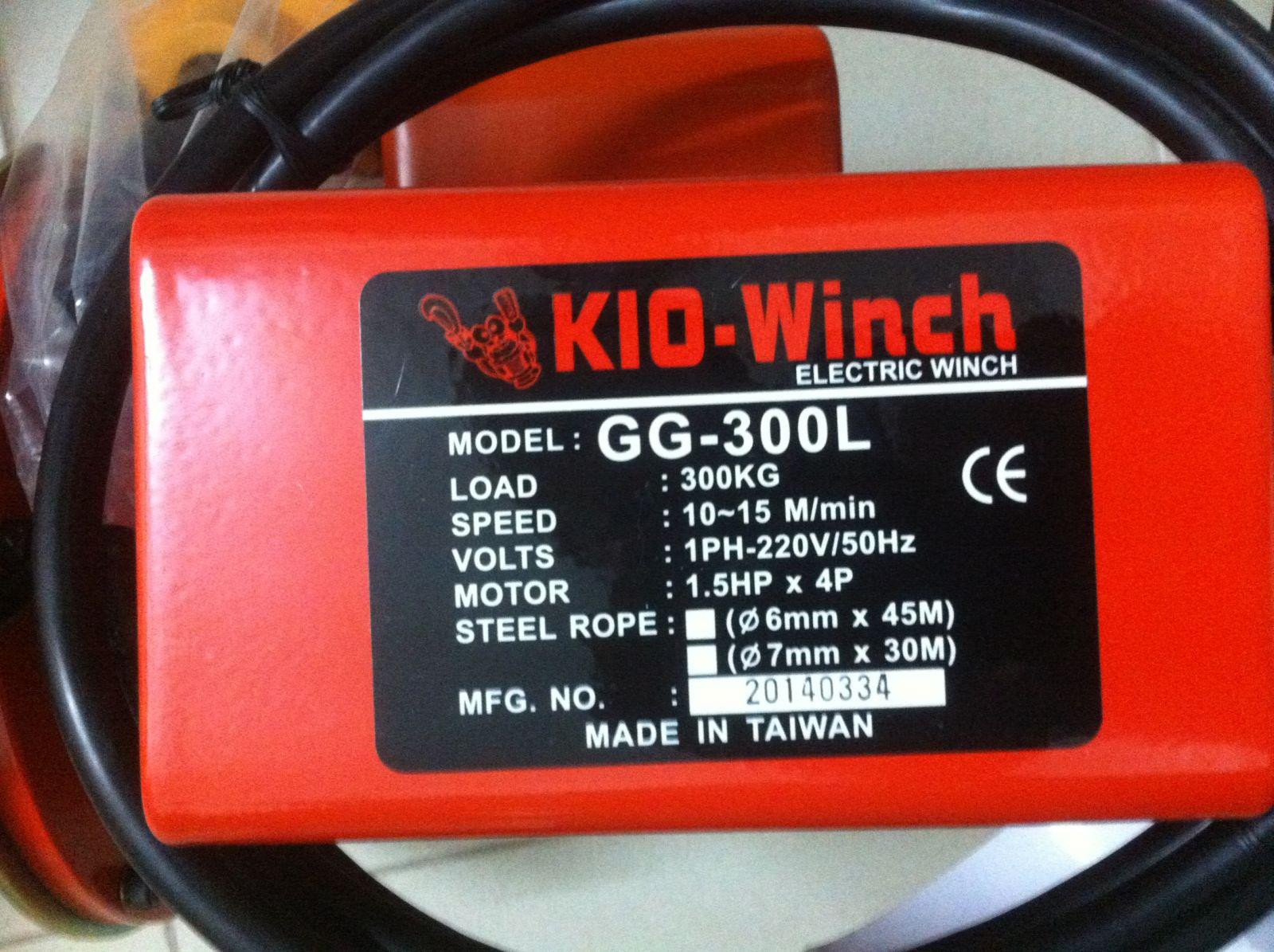 Tời điện xây dựng KIO Winch - Đài Loan