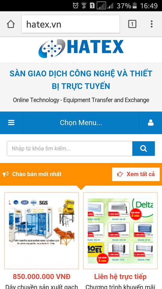 Hatex.vn ra mắt phiên bản dành cho điện thoại di động