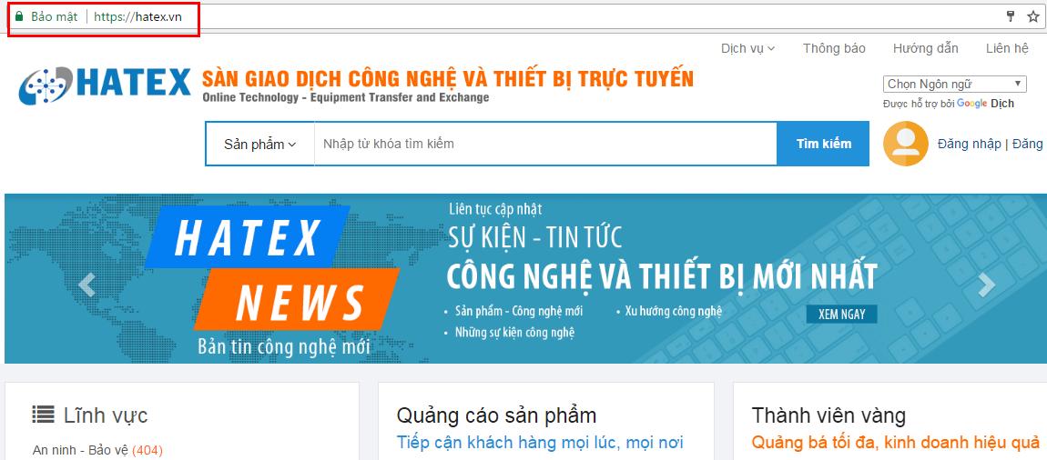 [Thông báo] HATEX.VN chính thức sử dụng giao thức mã hóa HTTPS