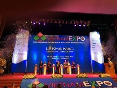 Opening the International Trade Fair 28 th Vietnam - VIETNAM EXPO 2018