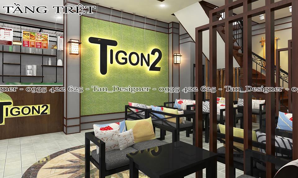 Thiết kế thi công nội thất quán trà sữa TIGON2